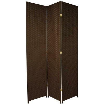 Sanderling 3 Panel Room Divider Color: Dark Mocha