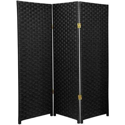 Sanderling 3 Panel Room Divider Color: Black