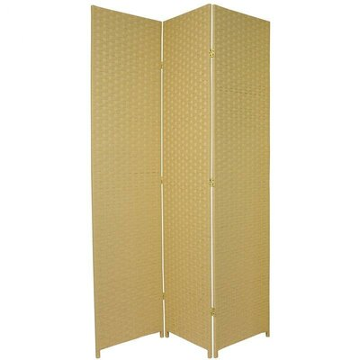 Sanderling 3 Panel Room Divider Color: Dark Beige
