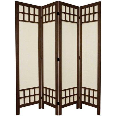 Marissa 4 Panel Room Divider Finish: Brown
