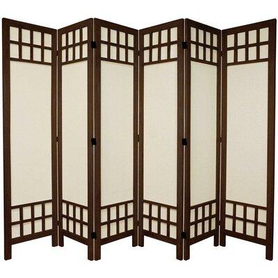 Marissa 6 Panel Room Divider Finish: Brown