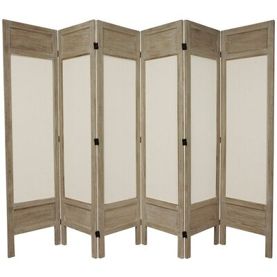Lamanna 6 Panel Room Divider Color: Burnt Grey