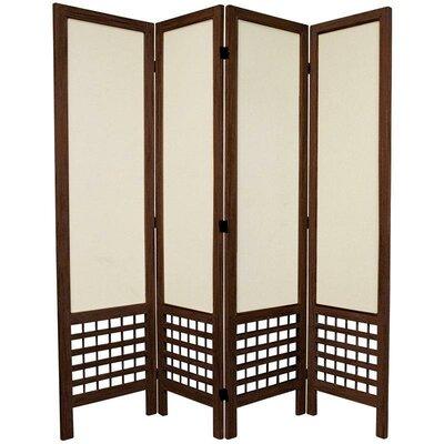 Mcintyre 4 Panel Room Divider Finish: Brown