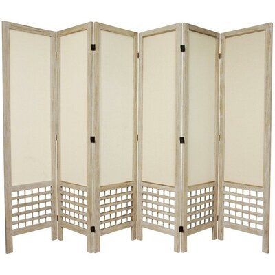 Samons 6 Panel Room Divider Finish: White