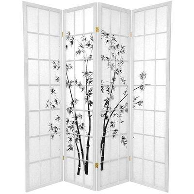 Sanibel 4 Panel Room Divider Color: White