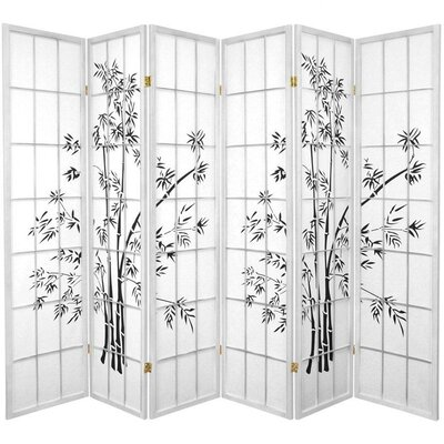 Sanor Lucky 6 Panel Room Divider Color: White
