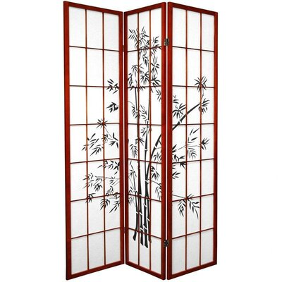Sanfilippo 3 Panel Room Divider Color: Rosewood