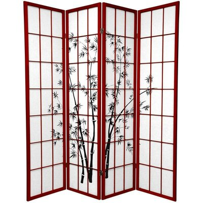 Sanibel 4 Panel Room Divider Color: Rosewood