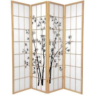 Sanibel 4 Panel Room Divider Color: Natural