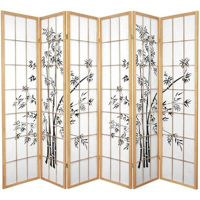 Sanor Lucky 6 Panel Room Divider Color: Natural