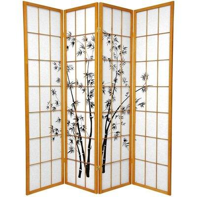 Sanibel 4 Panel Room Divider Color: Honey