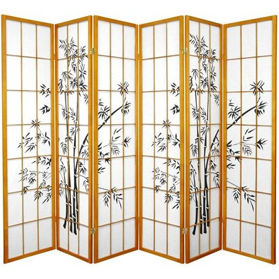 Sanor Lucky 6 Panel Room Divider Color: Honey