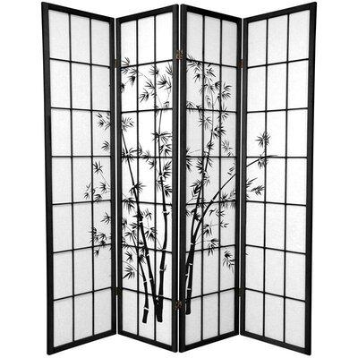 Sanibel 4 Panel Room Divider Color: Black