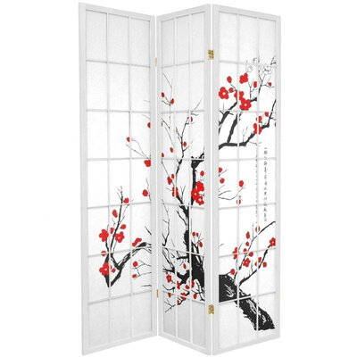 Marlee Room Divider Color: White, Number of Panels: 3