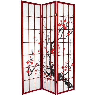 Marlee Room Divider Color: Rosewood, Number of Panels: 3