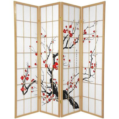 Marlee Room Divider Color: Natural, Number of Panels: 4