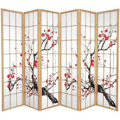 Marlee Room Divider Color: Natural, Number of Panels: 6