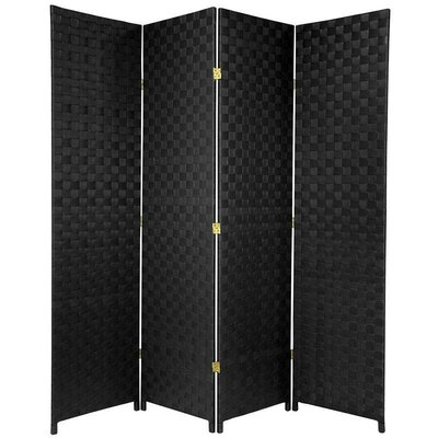 Sand Lake 4 Panel Room Divider Color: Black