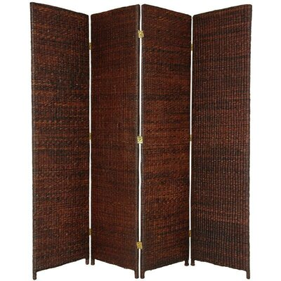 Fickes Room Divider Color: Dark Brown, Number of Panels: 4