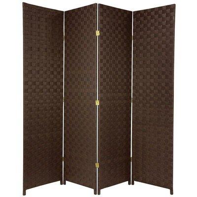 Sand Lake 4 Panel Room Divider Color: Dark Brown