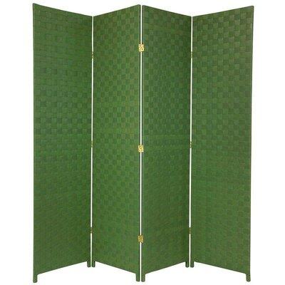 Sand Lake 4 Panel Room Divider Color: Green
