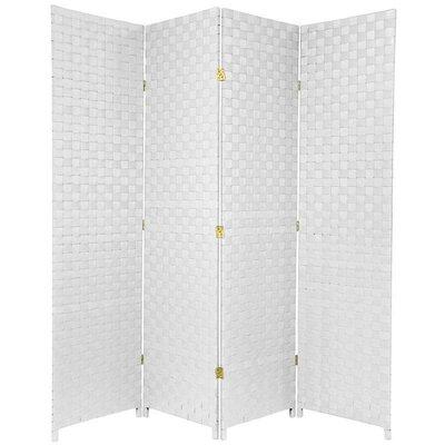 Sand Lake 4 Panel Room Divider Color: White
