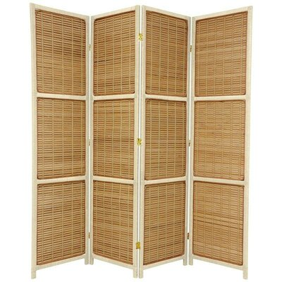 Marissa Room Divider Color: Cream, Number of Panels: 4