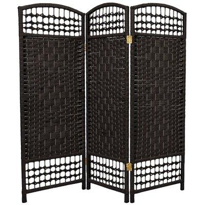 Mui 3 Panel Room Divider Color: Black