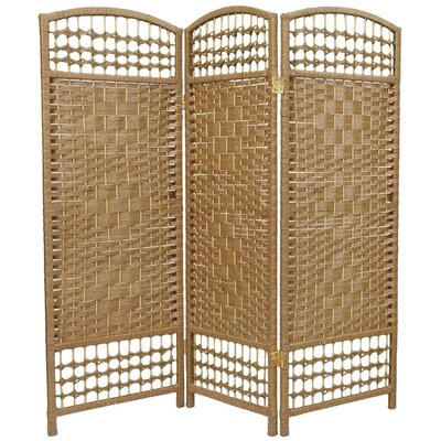 Mui 3 Panel Room Divider Color: Natural