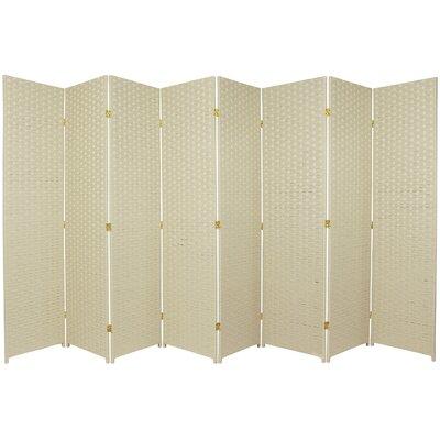 Collier 8 Panel Room Divider Color: Cream