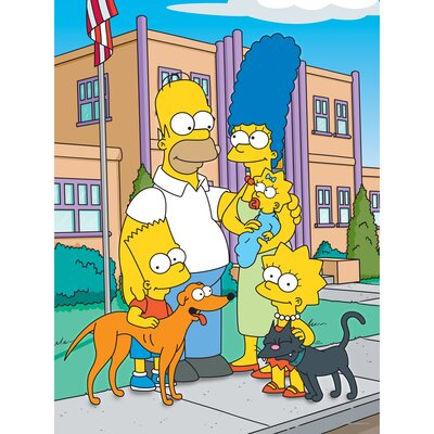 Oriental Furniture The Simpsons Family School Graphic Art on Canvas