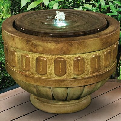Stone Chalice Fountain with LED Light