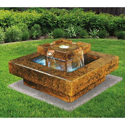 Concrete Tahoe Fountain with LED Light