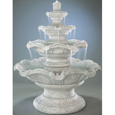 Tiered Concrete Quattro Classic Waterfall Fountain Finish: Ivory