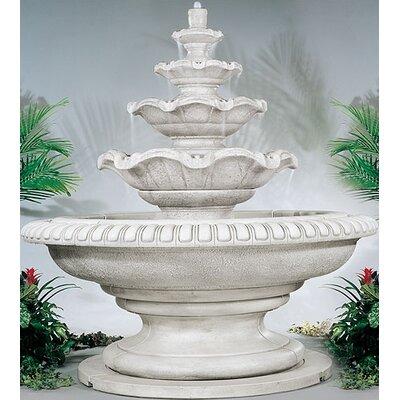 Tiered Concrete Palazzo Quattro Waterfall Fountain Finish: Sorrento Sandstone