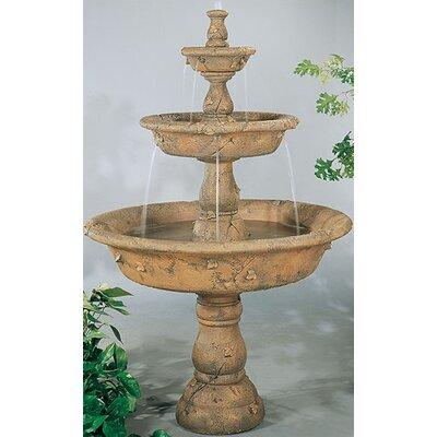 Tiered Concrete Triple Tazza Waterfall Fountain Finish: Relic Lava
