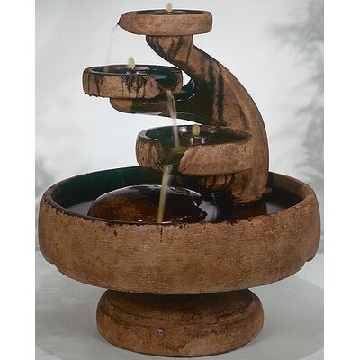 Centerpiece Concrete Mill Tier Cascade Fountain Finish: Garden Stone