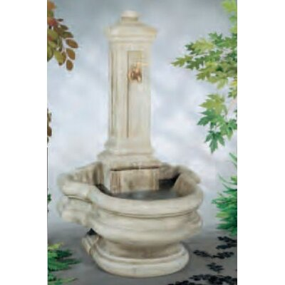 Wall Concrete Well Fountain Finish: Natural