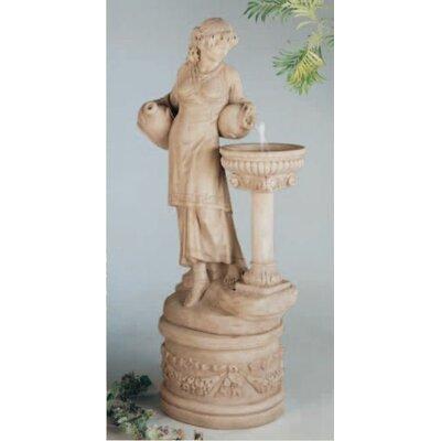 Figurine Concrete Angella Fountain Finish: Elban Olivestone
