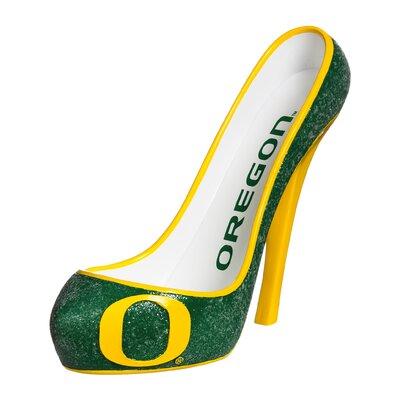 Glitter Shoe 1 Bottle Tabletop Wine Rack NCAA Team: Oregon Ducks