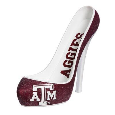 Glitter Shoe 1 Bottle Tabletop Wine Rack NCAA Team: Texas A&M Aggies