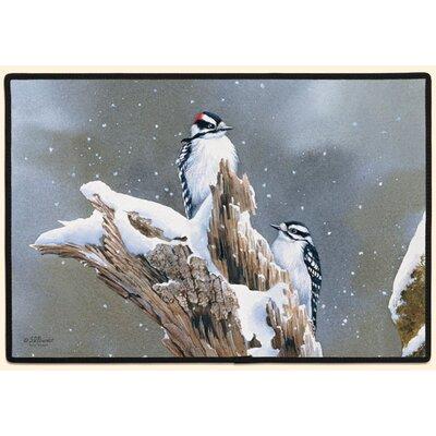 Fiddler's Elbow Downy Woodpecker Doormat