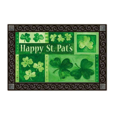 Magnet Works, Ltd. Shamrock Collage Matmate Doormat