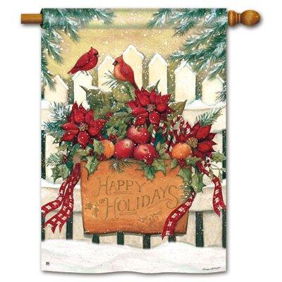 Magnet Works, Ltd. Holiday Gate Garden Flag