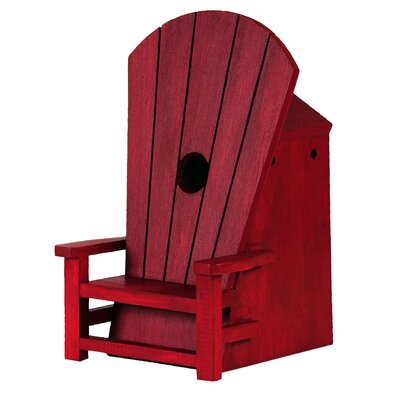 Adirondack Chair 10 in x 6 in x 6.25 in Songbird House