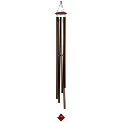 "Cauthen Wind Chime Size: 58"" H x 7"" W x 7"" D, Color: Bronze/Burgundy"