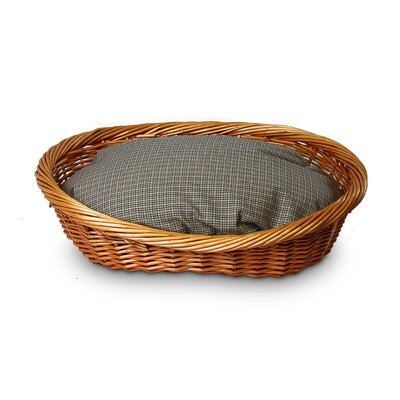 Snoozer Pet Products Wicker Irish Cork Dog Basket and Bed