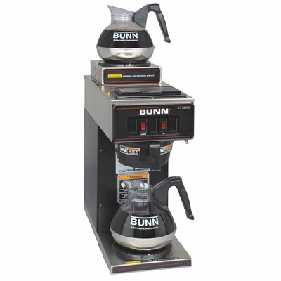 12-Cup Two-Station Commercial Pour-O-Matic Coffee Brewer Color: Black