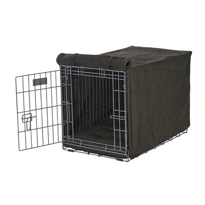 """Luxury Crate Cover Size: Large (25"""" H x 23"""" W x 36"""" L), Color: Coffee"""