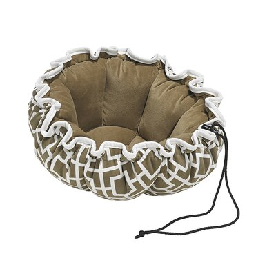 "Buttercup Dog Bed Size: Small - 24"" L x 24"" W, Color: Taupe"